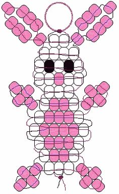 bead weaving patterns for beginners 2019 bead weaving patterns for beginners The post bead weaving patterns for beginners 2019 appeared first on Weaving ideas. Pony Bead Projects, Pony Bead Crafts, Beaded Crafts, Pony Bead Animals, Beaded Animals, Pony Bead Patterns, Weaving Patterns, Mosaic Patterns, Knitting Patterns