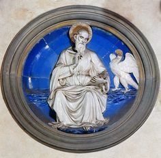 Luca della Robbia - San Giovanni Evangelista, 1450-1460. Firenze, Santa Croce, Cappella Pazzi