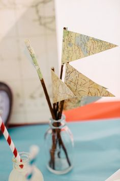 Cute decorations to go with the travel theme