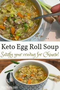 This Keto Chinese Pork Egg Roll Soup is So Flavorful Loading. This Keto Chinese Pork Egg Roll Soup is So Flavorful Low Carb Keto, Low Carb Recipes, Diet Recipes, Cooking Recipes, Healthy Recipes, Easy Recipes, Recipies, Chinese Pork, Chinese Egg