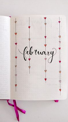 Stunningly Easy Bullet Journal Doodles You Can Totally Recreate - Painting Bullet Journal School, Bullet Journal Inspo, Bullet Journal Headers, February Bullet Journal, Bullet Journal Cover Ideas, Bullet Journal Notebook, Bullet Journal Aesthetic, Bullet Journal Themes, Bullet Journal Spread