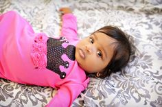 Hot Pink and Black Crown Gown Newborn by glamrbaby on Etsy
