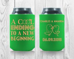 Wedding Koozies, New Beginnings, Drink Sleeves, How To Memorize Things, Wedding Day, Wedding Inspiration, Thankful, Templates, Cool Stuff