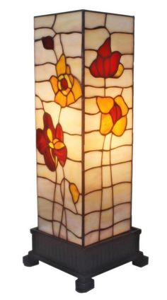 Tiffany Style Stained Glass Amora Lighting Poppies Table Lamp New Stained Glass Lamps, Unique Lamps, Modern Lamps, Tiffany Lamps, Bedroom Lamps, Hanging Lights, Hanging Lamps, Elegant Table, Home Decor