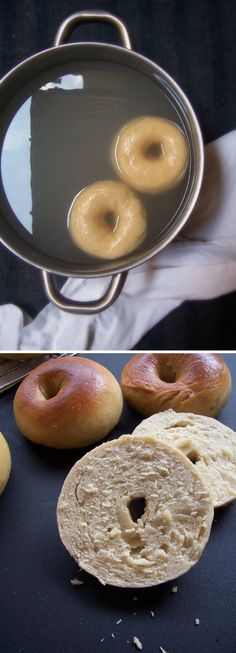 Yesterday was all about a British food staple, so it's only fair that today will be about the American classic that are bagels. Dessert Bread, Breakfast Dessert, Breakfast Recipes, Low Carb Bagels, Low Carb Bread, Quick Bread Recipes, Cooking Recipes, Homemade Bagels, Recipes From Heaven