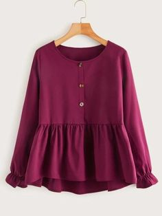 Girls Fashion Clothes, Teen Fashion Outfits, Girls Frock Design, Stitching Dresses, Fancy Tops, Stylish Dresses, Types Of Sleeves, Blouse Designs, Blouses For Women