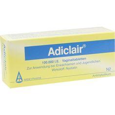 ADICLAIR Vaginaltabletten gegen Scheidenpilz:   Packungsinhalt: 12 St Vaginaltabletten PZN: 06341788 Hersteller: Ardeypharm GmbH Preis:…
