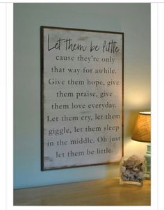 Let Them Be Little Lyrics - Songwriters: Billy H. Dean / Richie Mcdonald