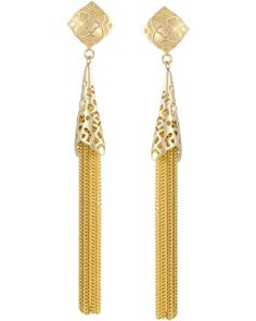 Teishya Long Earrings in Gold - Kendra Scott.