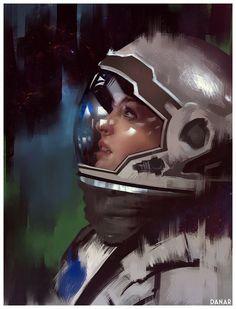 Interstellar Anne Hathaway fan-art, Danar Worya on ArtStation at http://www.artstation.com/artwork/interstellar-anne-hathaway-fan-art