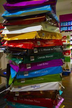 The Colorful Chocolate World of Ritter Sport in Berlin - Take the Kids, they'll love it! We went on a rainy day and between the chocolate cafe, museum, and making our own bars...we loved it! Click here and find out how sweet it is! - Reflections Enroute