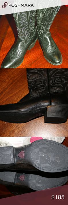 Ariat Cowgirl boots Ladies Cowboy boots - Ariat Brand  Black womens cowgirl boots gorgeous but don't fit my high arch, worn once Ariat Shoes Heeled Boots