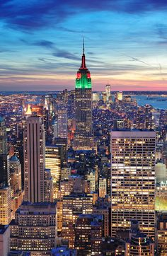 New York City Manhattan skyline aerial view NYC Manhattan Skyline, Nyc Skyline, Go To New York, New York City, Dream Vacations, Vacation Spots, Vacation Travel, Empire State Building, Oh The Places You'll Go