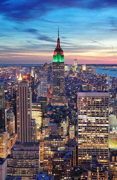 New York City Manhattan skyline aerial view
