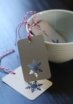 cut out gift tag