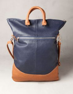 TWO-TONE FOLD-UP SHOPPING BAG - BAGS AND BACKPACKS - WOMAN - Spain