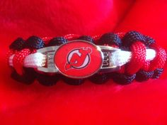 New Jersey Devils Sport Paracord Bracelet by TheDivineCrafter, $15.00