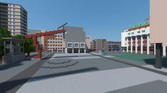 Schouwburgplein, Pathé, Hartsijkerflat, Rotterdam in Minecraft