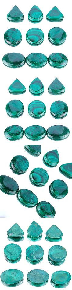 Malachite 10236: 690 Cts/9 Pcs Untreated Natural Malachite Aaa Finest Green Wholesale Gemstones BUY IT NOW ONLY: $37.49