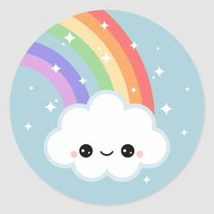 Get your hands on great customizable Clouds stickers from Zazzle. Rainbow Drawing, Cloud Drawing, Rainbow Cartoon, Cartoon Clouds, Doodles Kawaii, Kawaii Art, Stickers Kawaii, Cute Stickers, Rainbow Cloud