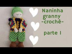 Granny Hexagon Doll Free Crochet Patterns + Video Crochet Lovey, Crochet Doll Pattern, Baby Blanket Crochet, Crochet Motif, Free Crochet, Crochet Patterns, Crochet Doll Clothes, Knitted Dolls, Crochet Dolls