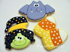 Silly, spooky Halloween   Flickr - Photo Sharing!  Cute ideas for cookie decorating