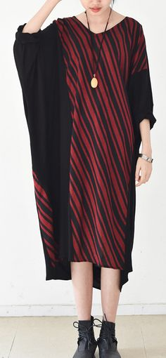2017 oversized dress draped striped casual caftans maxi dresses plus size