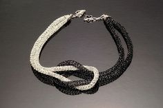 Wire Crochet Yin Yang Knot Necklace Pictures