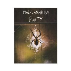 Shop Halloween Party Invitation huge writing spider web created by dbvisualarts. Halloween Party Themes, Halloween Party Invitations, Types Of Spiders, Invitation Wording, Childrens Party, Cool Gifts, Witches, Seasons, Gift Ideas