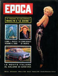 1959 vintage MARILYN MONROE cover EPOCA Richard Avedon amazing ITALY !! MINT | eBay