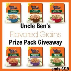 Uncle Ben's Flavored Rice Prize Pack GIVEAWAY I love serving Uncle Ben's Rice to my family!  So, I am super excited to hear that they have a NEW line!  Tha