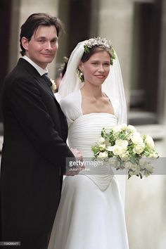 JULY 14, 1994: Daniel Chatto and Lady Sarah Armstrong-Jones exit Saint Stephen Walbrook Church at the conclusion of their wedding service. He is the son of the actor Tom Chatto and the theatrical agent Roz Chatto. Sarah and Daniel now have two sons, Samuel and Arthur.