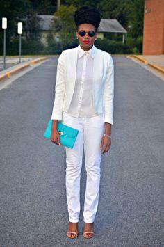Nikki Billie Jean, Maryland (DMV) http://www.nikkibilliejean.com/2014/08/all-white-suit-look-inspired-by-micah.html www.instagram.com/nikkib...