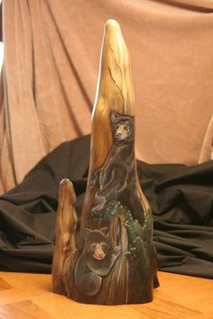 Tall cypress knee back. - Gourd and Cypress Knee Art