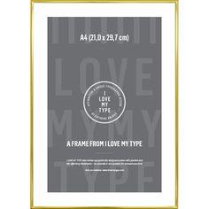 I LOVE MY TYPE Lijst A4 - Brass