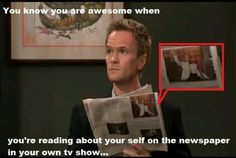 neil patrick harris (barney stinson on himym) haha How I Met Your Mother, Comedy, Neil Patrick Harris, Dump A Day, Funny Captions, Himym, I Meet You, Jim Parsons, You Are Awesome