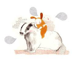 Whimsical Illustration - Bunny - Nature - Woodland