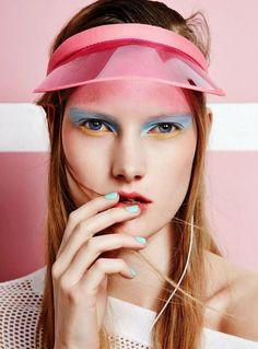 Transparent rose visor | Colour Update S/S 16 – Soft Pop