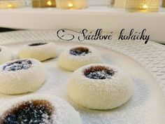 Sádlové koláčky | Sádlovky | ❄ Vánoční edice ❄ | CZ/SK HD recipe - YouTube Christmas Candy, Christmas Cookies, Types Of Cakes, Cakepops, Doughnut, Food And Drink, Sweets, Cupcakes, Cooking