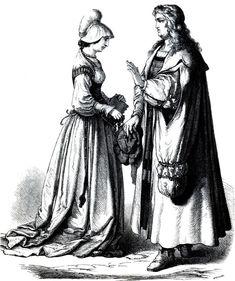 Немецкий ученый и горожанка, первая четверть 16-го века