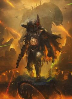 Boba Fett    No clue what's going on in this, but it's awesome!!!