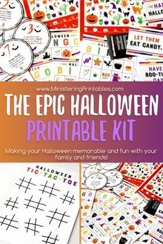 Use this epic Halloween kit over and over for years to come. It's got everything you need to help your kids stay busy, have fun, make great memories...and you get to be the rock star mom who makes it happen. #Halloween #halloweenprintables #Holidayprintables #Ministering #LatterDaySaint #LDSministering #LDSprintables Halloween Toes, Halloween Bingo, Halloween Class Party, Halloween This Year, Halloween Prints, Halloween Scavenger Hunt, Hosting Thanksgiving, Lds Primary, Calling Cards