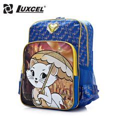 e45c576b48d7 Luxcel Kid backpack Baby girls toddler school backpack cat cartoon schoolbag  for children