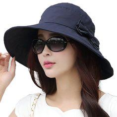 ac93f7519adea Siggi Womens Summer Bucket Boonie UPF 50 Wide Brim Sun Hat Cord Cap Beach  Accessories Navy