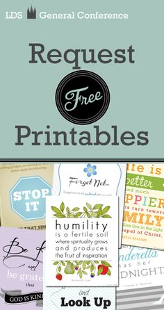 Free LDS printables from General Conference