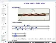 Wire wrapping tutorial 15 Wire Weaves 2 and 3 base wires image 6 Wire Jewelry Making, Jewelry Making Supplies, Wire Wrapped Jewelry, Copper Wire Crafts, Wire Jewelry Designs, Jewelry Ideas, Diy Jewelry, Homemade Jewelry, Metal Jewelry