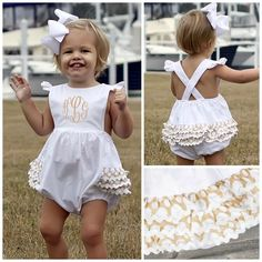 Monograms & ruffles - love!