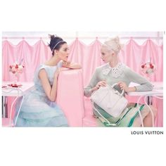 Louis Vuitton's Candy Sweet Spring/Summer 2012 Campaign ❤ liked on Polyvore featuring people, backgrounds, models and editorial