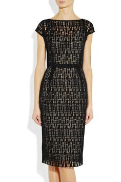 Cotton-blend lace dress by Lela Rose