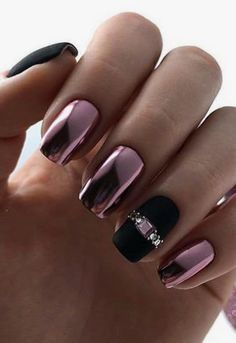 Amazing Nail Polish Color Trends You ll Want To Have All Year chromenails Great Black Matte and Chrome Nails Gorgeous Nails, Pretty Nails, Fun Nails, Amazing Nails, Fabulous Nails, Halloween Nail Designs, Halloween Nails, Spooky Halloween, Halloween 2020